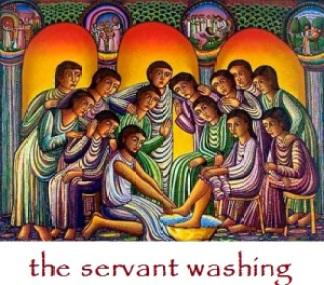 servant washing