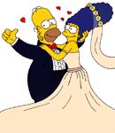 marge&homer-wedding